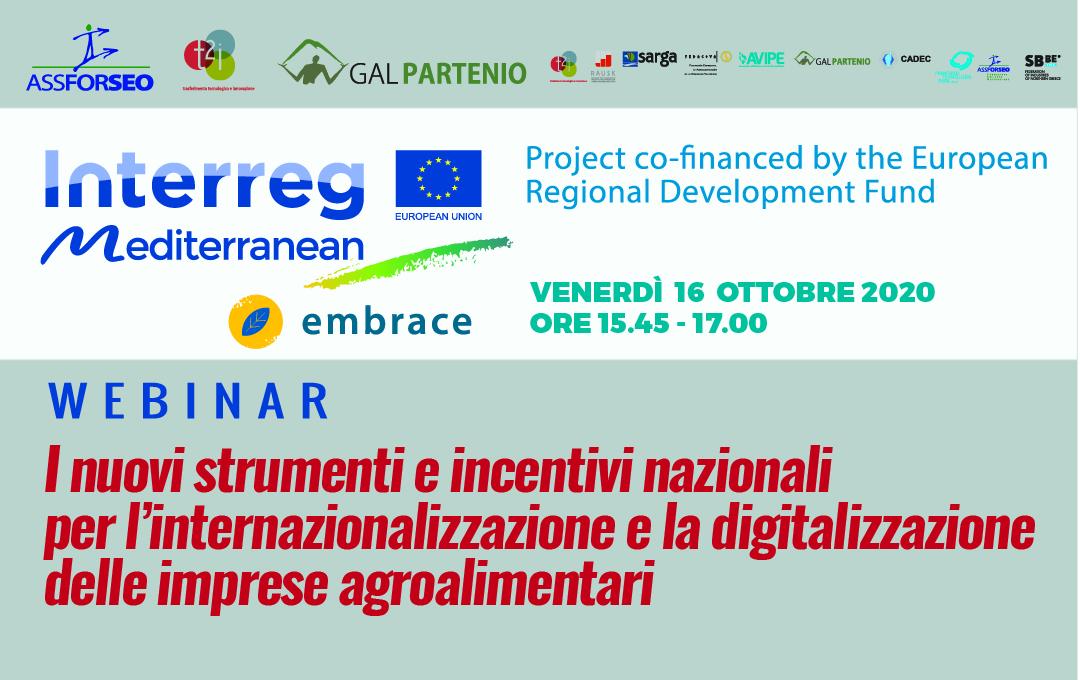 WEBINAR – I nuovi strumenti e incentivi nazionali per l'internazionalizzazione e la digitalizzazione delle imprese agroalimentari  Copia