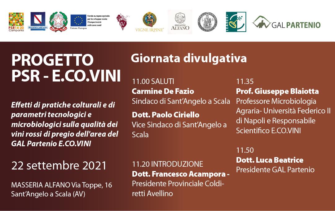 Giornata divulgativa Progetto PSR – E.CO.VINI